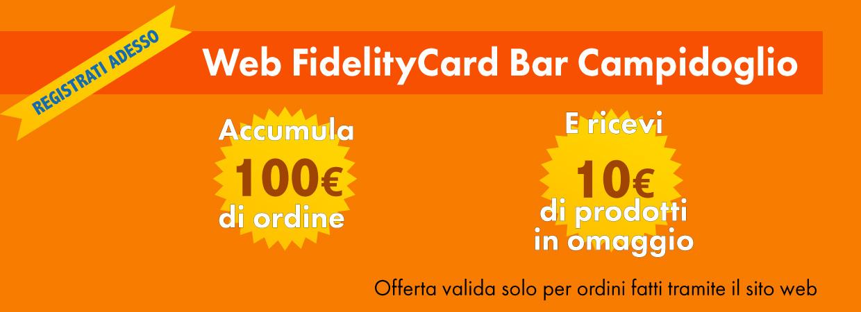 Fidelity Card Bar Campidoglio Sant'Agata di Militello